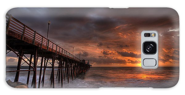 Rock Galaxy Case - Oceanside Pier Perfect Sunset by Peter Tellone