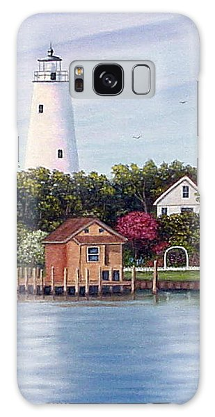 Ocracoke Island Light Galaxy Case