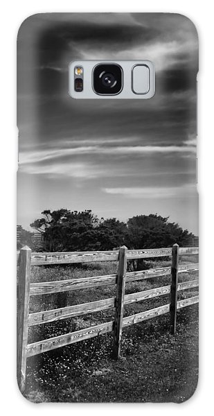 Ocracoke Pony Fence Galaxy Case