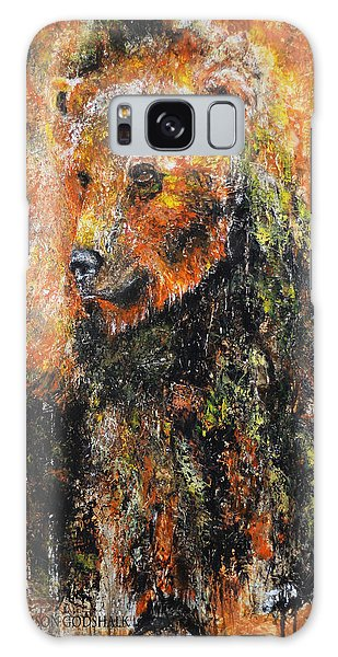Abstract Bear Painting October Bear Galaxy Case