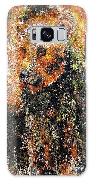 Abstract Bear Painting October Bear Galaxy Case