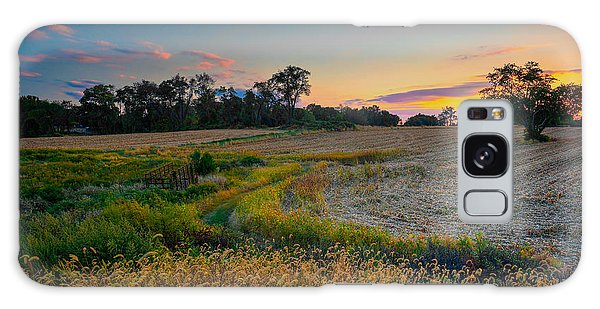 October Evening On The Farm Galaxy Case