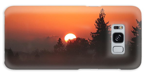 October Orange Galaxy Case by Erica Hanel