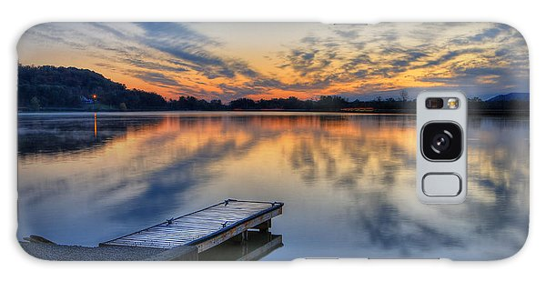 October Sunrise At Lake White Galaxy Case by Jaki Miller