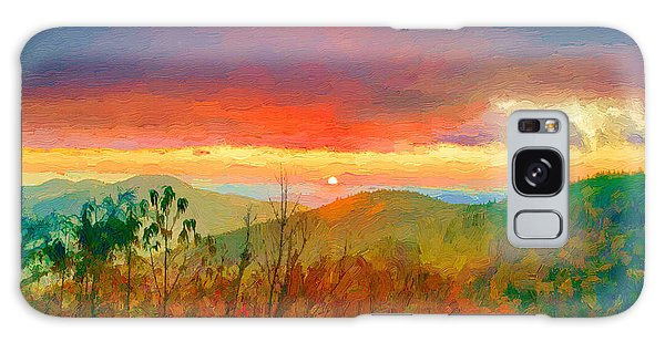October Sunrise Painting On The Blue Ridge Parkway Galaxy Case