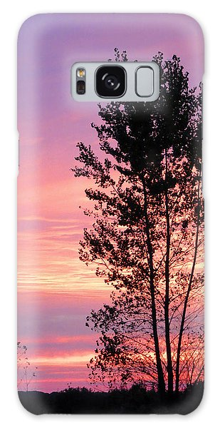 October Sunset Galaxy Case