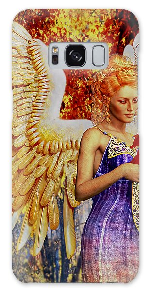 October's Angel Galaxy Case by Suzanne Silvir
