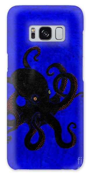 Octopus Black And Blue Galaxy Case