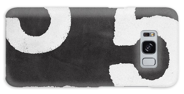 Black And White Art Galaxy Case - Odd Numbers by Linda Woods