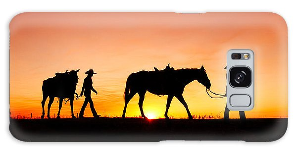 Horse Galaxy Case - Off To The Barn by Todd Klassy