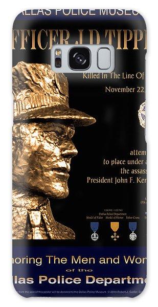 Officer J D Tippit Memorial Poster Galaxy Case
