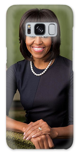 Official Portrait Of First Lady Michelle Obama Galaxy Case