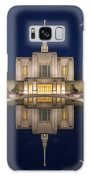 Ogden Temple Reflection Galaxy Case