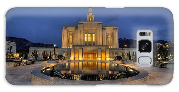 Ogden Temple Reflections Galaxy Case