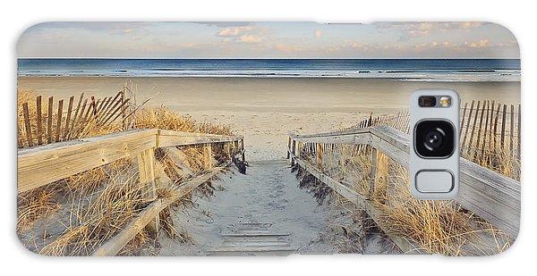 Cottage Galaxy Case - Ogunquit Beach Boardwalk by Katherine Gendreau
