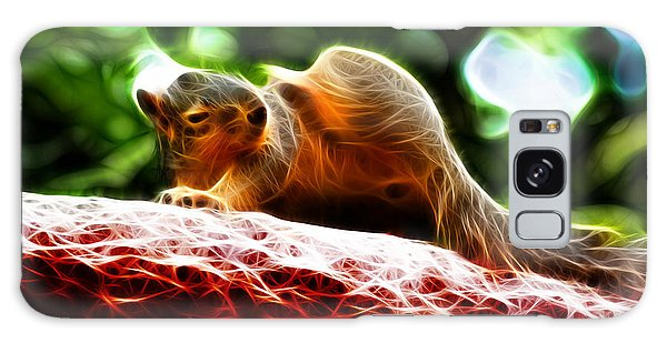 Oh Buggers I Itch - Fractal - Robbie The Squirrel Galaxy Case by James Ahn