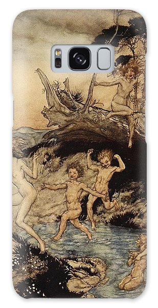 Mythological Galaxy Case - Oh What A Good Time Was That by Arthur Rackham