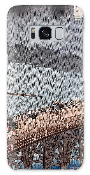 Hundred Galaxy Case - Ohashi Sudden Shower At Atake by Ando Hiroshige