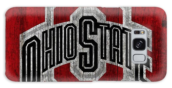 Ohio State University On Worn Wood Galaxy Case