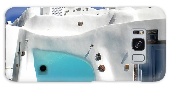 Oia Santorini  With Direct View To The Oceon Greece Galaxy Case