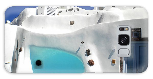 Oia Santorini  With Direct View To The Oceon Greece Galaxy Case by Colette V Hera  Guggenheim
