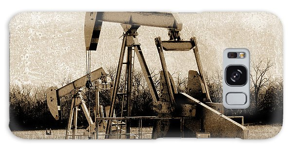 Oil Pump Jack In Sepia Galaxy Case