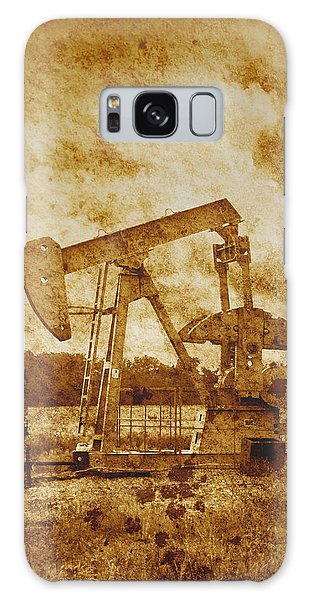 Oil Pump Jack In Sepia Two Galaxy Case