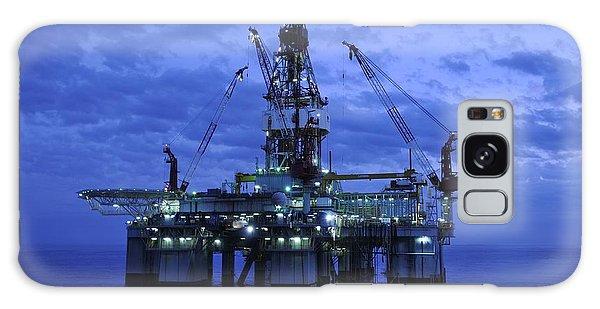 Oil Rig At Twilight Galaxy Case