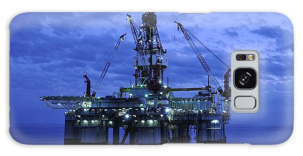 Oil Rig At Twilight Galaxy Case