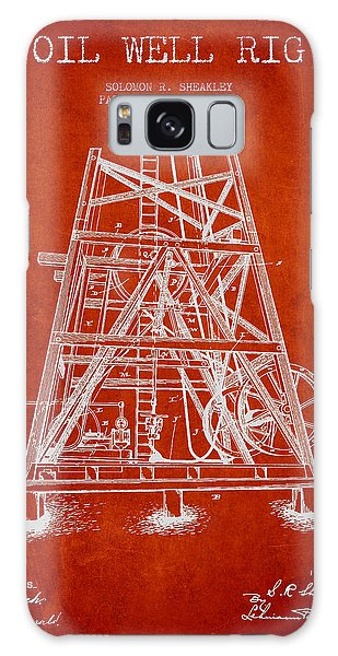 Oil Well Rig Patent From 1893 - Red Galaxy Case