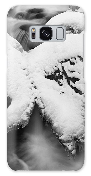 Galaxy Case featuring the photograph Oirase Gorge Stream In Winter by Brad Brizek