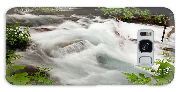 Galaxy Case featuring the photograph Oirase Stream by Brad Brizek