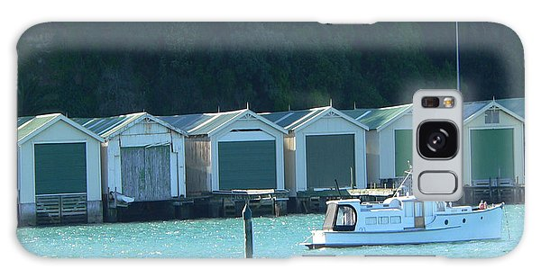 Okahu Bay Historic Boat Sheds Auckland Galaxy Case
