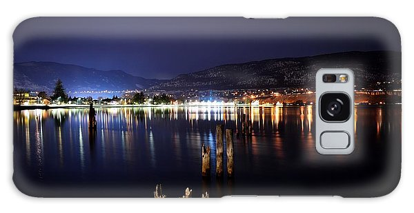 Okanagan Lake At Night Galaxy Case