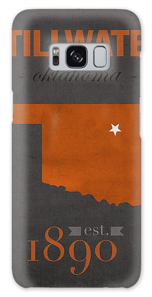 Oklahoma Galaxy Case - Oklahoma State University Cowboys Stillwater College Town State Map Poster Series No 084 by Design Turnpike