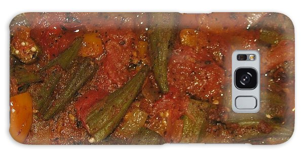Okra And Tomatoes Galaxy Case by Cleaster Cotton copyright