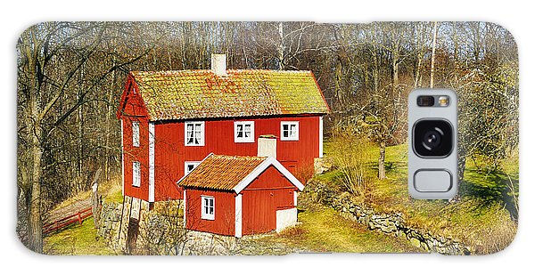 Old 17th Century Cottage Set In Rural Nature Landscape Galaxy Case by Christian Lagereek