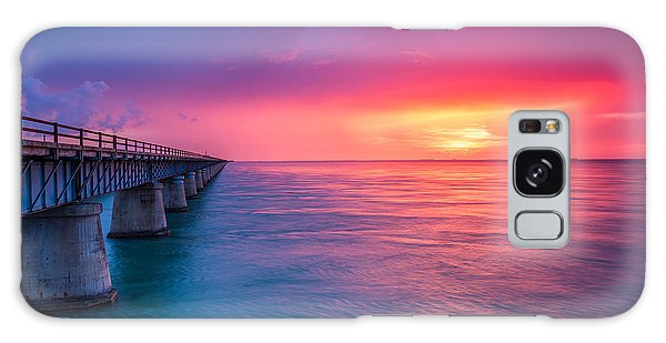 Old 7 Mile Bridge Sunset Galaxy Case