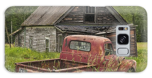 Old Abandoned Homestead And Truck Galaxy Case