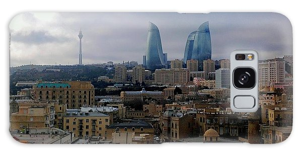 Old Baku And Flame Towers Galaxy Case