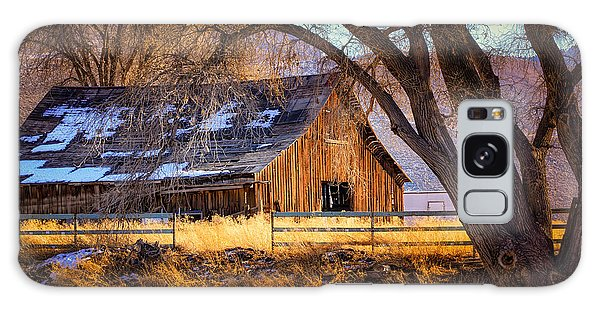 Old Barn In Sparks Galaxy Case by Janis Knight