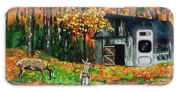 Old Barn In The Woods Galaxy Case