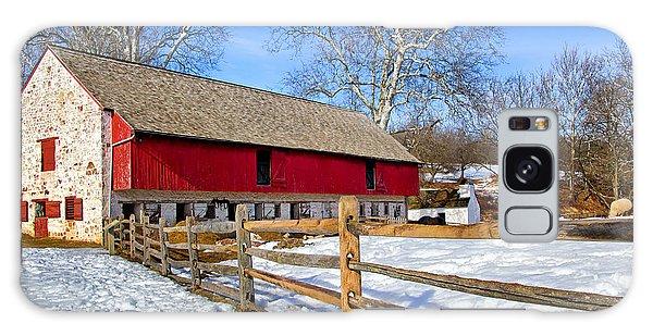 Old Barn In Winter Galaxy Case