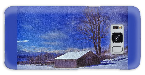 Old Barn In Winter Galaxy Case