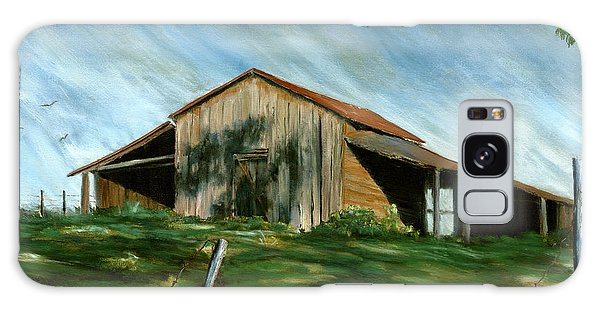 Old Barn Landscape Art Pleasant Hill Louisiana  Galaxy Case