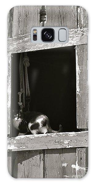 Old Barn Window Galaxy Case by Tim Good