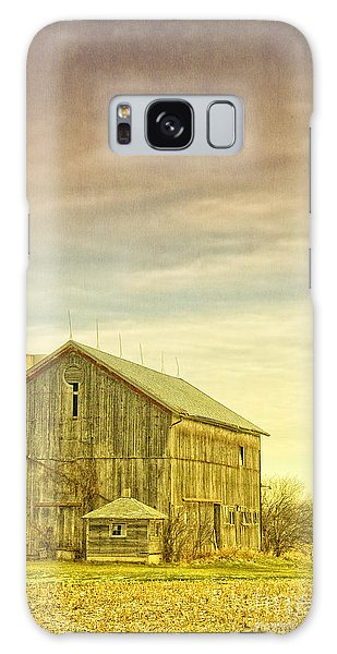 Old Barn With Silo Galaxy Case