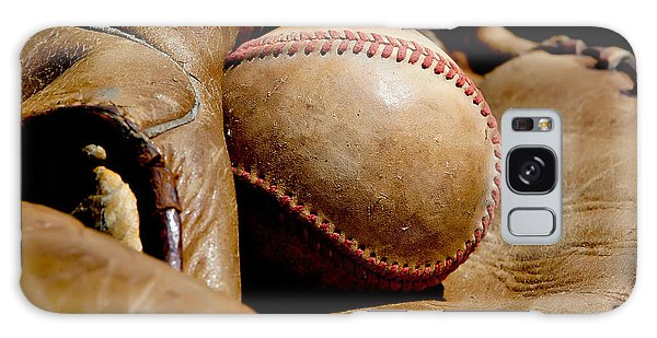 Old Baseball Ball And Gloves Galaxy Case