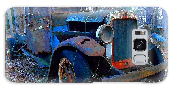 Old Blue Pickup Truck Galaxy Case
