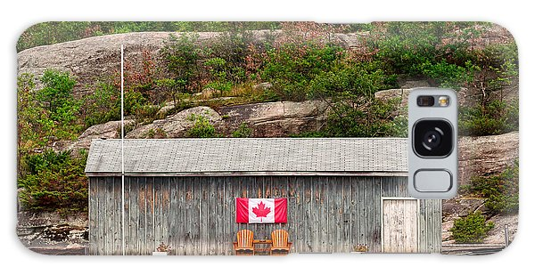 Old Boathouse With Two Muskoka Chairs Galaxy Case